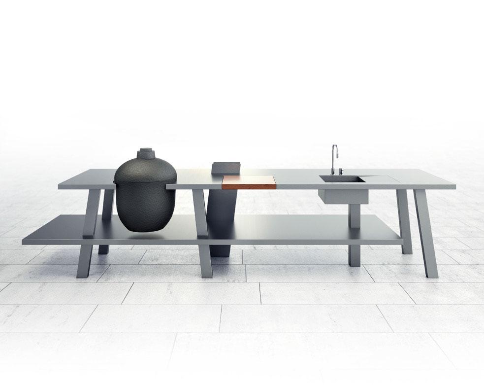 Outdoor Küche Module : Gienger küchen münchen outdoorküche neu in unserer ausstellung